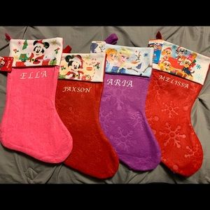 Personalized character Disney stockings